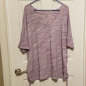 Lane Bryant Purple Top Ruched Sides 26/28